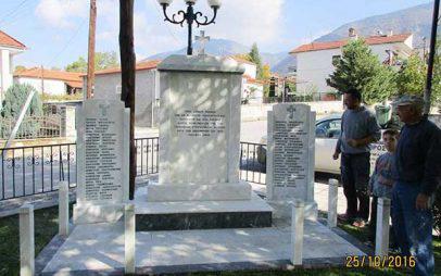 Αποκαταστάθηκε το τραυματισμένο Μνημείο στην πλατεία του Αγίου Διονυσίου Βελβεντού