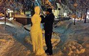 Έργο τέχνης από χιόνι στη Φλώρινα