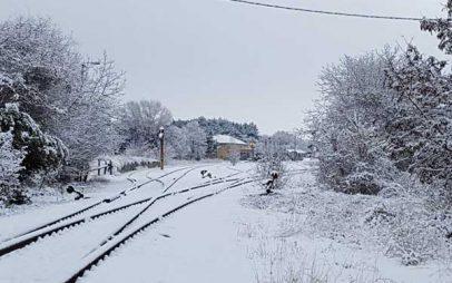 Παραμυθένιες εικόνες στην περιοχή του ΟΣΕ Κοζάνης