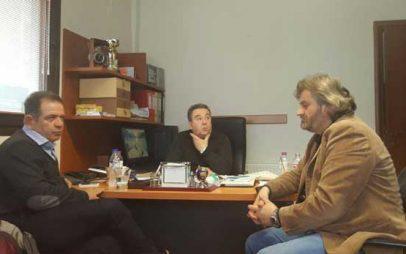 Επίσκεψη του Βουλευτή ΣΥΡΙΖΑ Μ. Δημητριάδη στα γραφεία του ΣΠΑΡΤΑΚΟΥ στην Πτολεμαΐδα