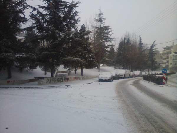 Η πρωινή κατάσταση στο Νομό Κοζάνης μετά τη σφοδρή χιονόπτωση