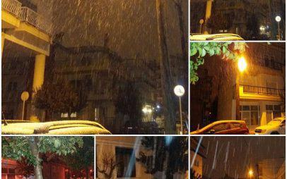 Άσπρισε ο ουρανός από το χιόνι στην Κοζάνη-Τα σχολεία κανονικά;