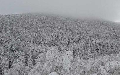 Εντυπωσιακές φωτογραφίες από τον χιονισμένο Μπούρινο