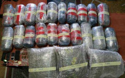 Γρεβενά: Έκρυβαν στο Ι.Χ. ταξιδιωτικούς σάκους με 30 κιλά ακατέργαστης κάνναβης