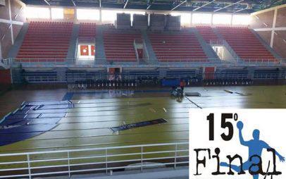 Εργασίες προετοιμασίας στο κλειστό Λευκόβρυσης για το Final Four κυπέλλου Ελλάδος στο handball