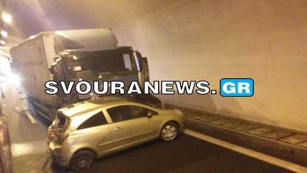ΤΩΡΑ – Σοβαρό τροχαίο ατύχημα στα τούνελ στον Πολύμυλο (Φώτο)