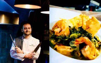 Γαρίδες Φρικασέ με τσίπς Φέτας! Του Ex.Chef Γιώργου Καλογερίδη