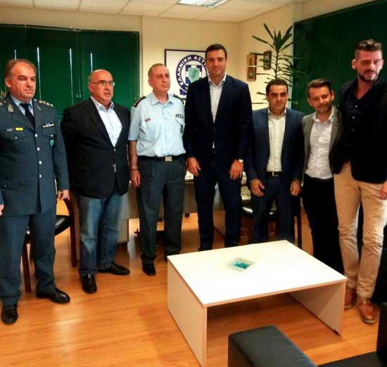 Επίσκεψη του Βασίλη Κικίλια στην Αστυνομική Διεύθυνση Κοζάνης