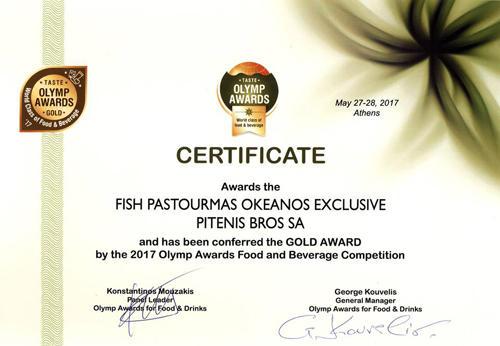 Πέντε βραβεία στον Πιτένη στο Taste Olymp Awards
