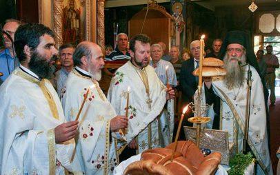 Το Βελβεντό υποδέχτηκε το ιερό λείψανο του Αγίου Διονυσίου εν Ολύμπω