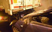 Τροχαίο με δυο τραυματίες στην Εγνατία στο ύψος του Πολυμύλου