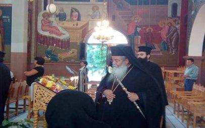 Αρχιερατική Παράκληση της Παναγίας στο Βαθύλακκο