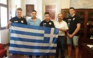 Στο δήμαρχο Εορδαίας η ομάδα F1 του Μουσικού Σχολείου Πτολεμαΐδας πριν αναχωρήσει για τη Μαλαισία