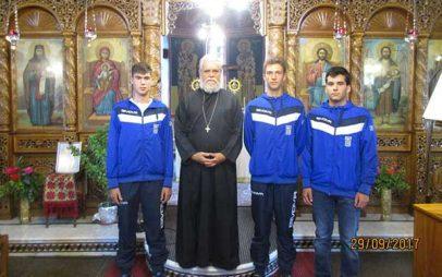 Οι χρυσοί κωπηλάτες στην Κωνσταντινούπολη, μαθητές Λυκείου,προσκεκλημένοι στον Άγιο Διονύσιο εν Ολύμπω Βελβεντού