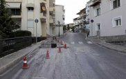 Σχάρες τοποθετήθηκαν στην οδό Αγίων Σαράντα για την αποφυγή πλημμύρων