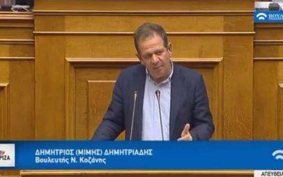 Μίμης Δημητριάδης: «Ρύθμιση θεμάτων ΕΦΚΑ (πρώην ΟΓΑ)»
