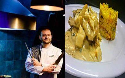 Ο Σεφ Γιώργος Καλογερίδης προτείνει… Φιλέτο κοτόπουλο με αχλάδι, εστραγκόν και ροκφόρ!
