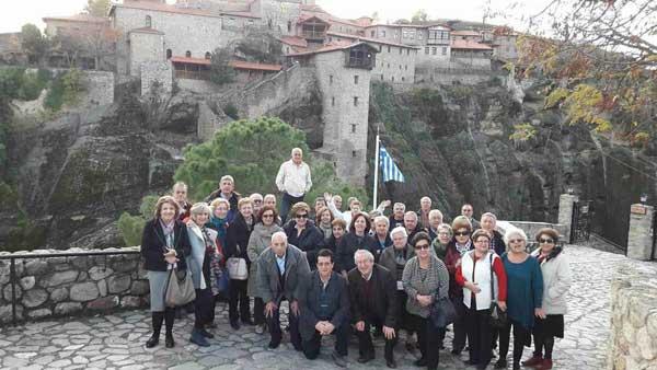 Οι συνταξιούχοι του Περιφερειακού Τμήματος ΟΤΕ Δυτικής Μακεδονίας  επισκέφτηκαν την Ιερά Μονή της Μεταμορφώσεως του Σωτήρος Δρυοβούνου και στη συνέχεια τα όμορφα Μετέωρα