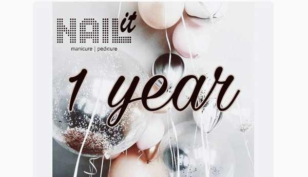 Το κατάστημα nail it έχει γενέθλια και γιορτάζει!