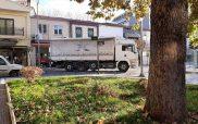 Φορτηγό μπλόκαρε την κυκλοφορία στο κέντρο της Κοζάνης