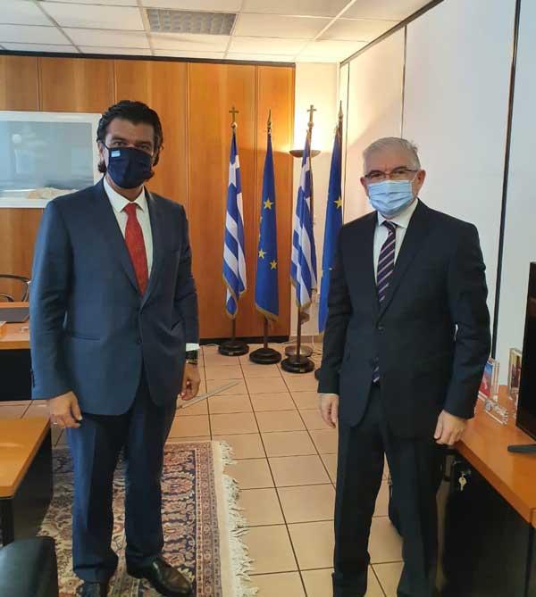 Συνάντηση του Βουλευτή Ν. Γρεβενών κ. Ανδρέα Πάτση με τον Πρόεδρο του ΕΛ.Γ.Α., κ. Ανδρέα Λυκουρέντζο