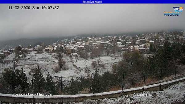 Σημερινές φωτογραφίες από την χιονσμένη Σαμαρίνα Γρεβενών