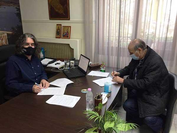 Υπογραφή σύμβασης για την «Αντιπλημμυρική Προστασία Της Βόρειας Ζώνης Οικισμού Σερβίων»