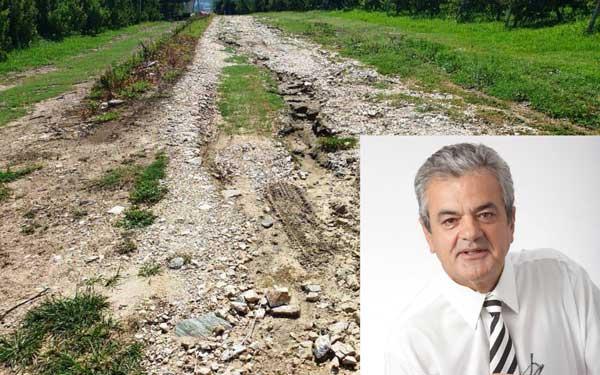 Αποκατάσταση κατεστραμμένων δρόμων από την θεομηνία περιοχής αναδασμού Δήμου Σερβίων