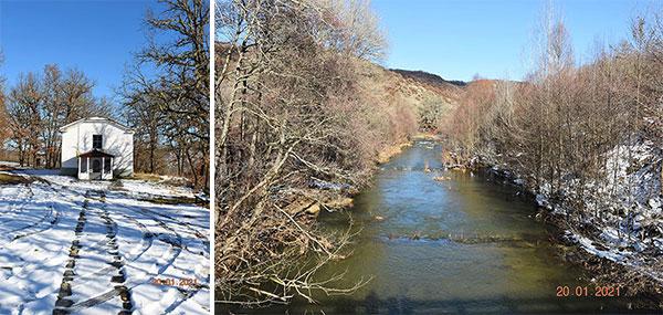 Χιονισμένο τοπίο: Άγιος Γεώργιος Βουχωρίνας Βοΐου – Ποταμός Πραμόριτσα (Δείτε πολλές φωτογραφίες)