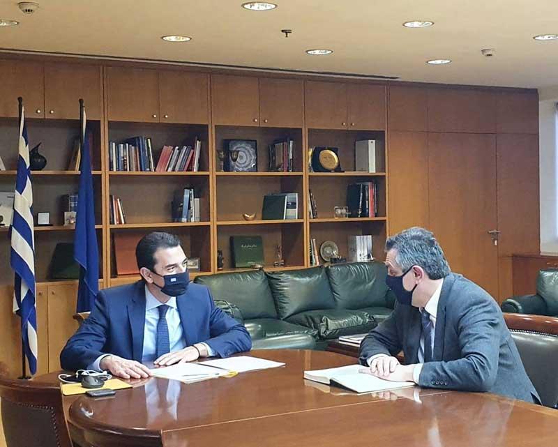 Συνάντηση του Γιώργου Κασαπίδη με τον Υπουργό Ενέργειας Κώστα Σκρέκα για τη δίκαιη μετάβαση με όρους απασχόλησης