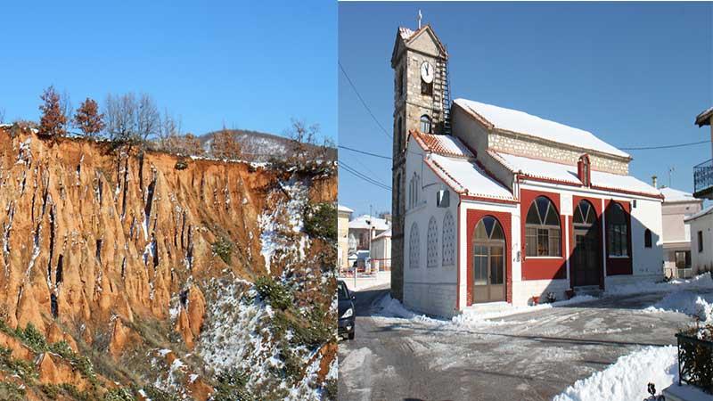 Χιονισμένο Μικρόβαλτο (το χωριό, ο Αηλιάς, το Ζιδάνι, τα Μπουχάρια-φωτογραφίες)
