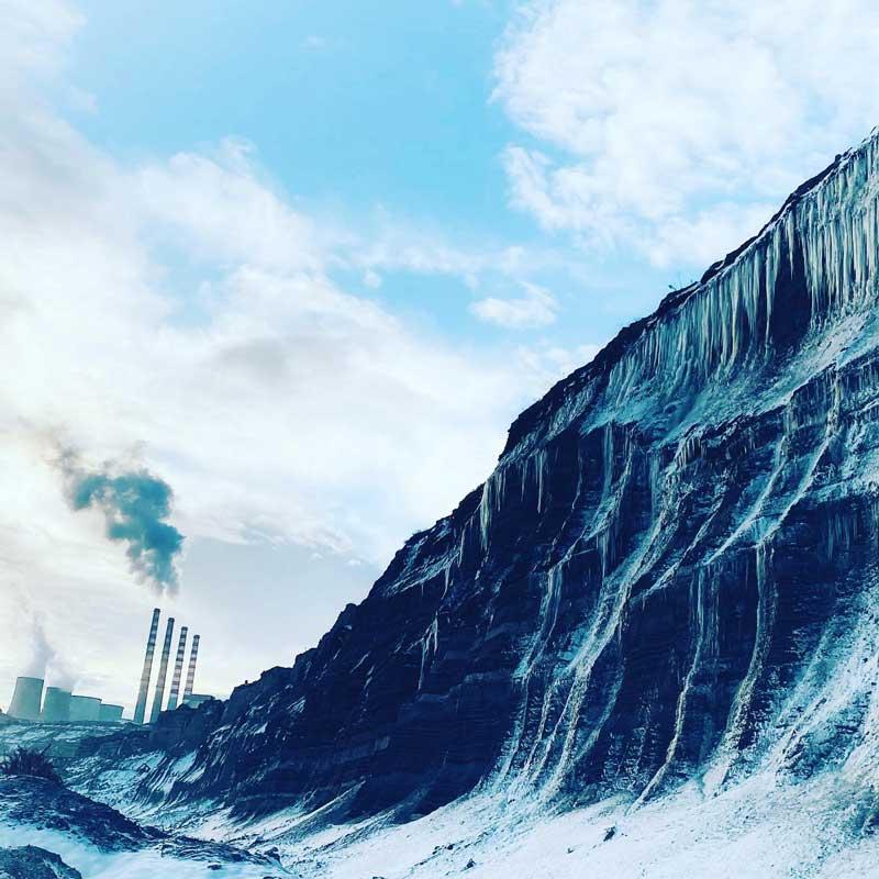 Φωτογραφίες από το παγωμένο ορυχείο Καρδιάς