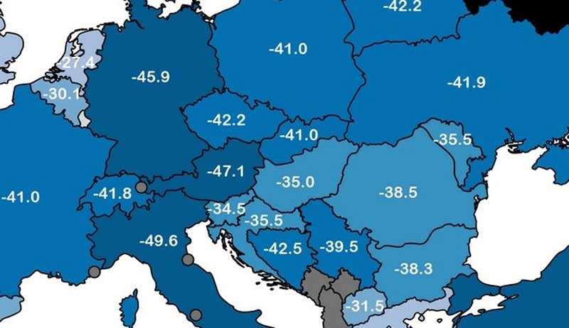Στην Πτολεμαΐδα η χαμηλότερη θερμοκρασία που έδειξε το θερμόμετρο στην Ελλάδα