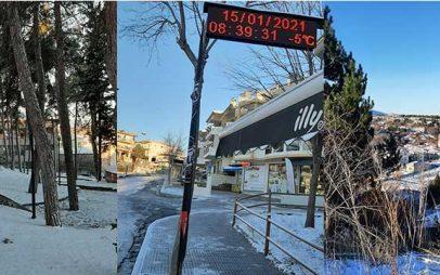 Στα άσπρα η Κοζάνη,-Στους -4 βαθμούς Κελσίου χωρίς προβλήματα στο οδικό δίκτυο-Δείτε φωτογραφίες από σημεία της πόλης