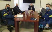 Τον Δήμαρχο Φλώρινας επισκέφτηκε ο νέος διοικητής της Περιφερειακής Πυροσβεστικής Διοίκησης Δυτικής Μακεδονίας