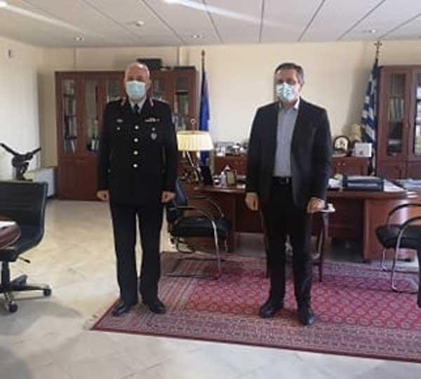 Επίσκεψη του νέου Γενικού Περιφερειακού Αστυνομικού Διευθυντή Δυτικής Μακεδονίας, Ταξίαρχου Θωμά Νέστορα, στον Περιφερειάρχη Δυτικής Μακεδονίας Γιώργο Κασαπίδη