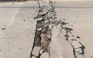 «Σκίστηκαν» οι δρόμοι στο Δαμάσι! (φωτο)
