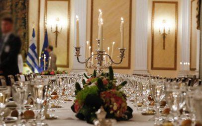 Ο κρόκος Κοζάνης στο επίσημο δείπνο της 25ης Μαρτίου