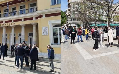 Συμβολική διαμαρτυρία του εμπορικού κόσμου στην κεντρική πλατεία της Κοζάνης- «Θέλουμε να ανοίξουμε τα καταστήματά μας»