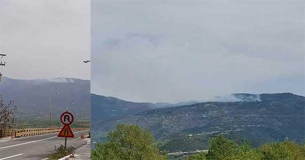 Φωτιά στα Πιέρια Όρη πριν λίγο κοντά στην περιοχή Αγίας Παρασκευής Μοσχοχωρίου Πλατανορρεύματος (Βίντεο)