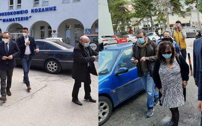 Έφτασε στο Μαμάτσειο Νοσοκομείο Κοζάνης ο Βασίλης Κοντοζαμάνης- Σύσκεψη στην ψυχιατρική κλινική