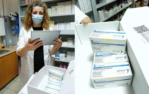 Έγινε σήμερα  η παραλαβή των μονοδοσικών εμβολίων Johnson & Johnson στο Γ.Ν. Κοζάνης Μαμάτσειο