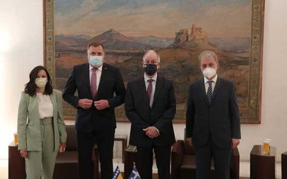 Σε συνάντηση του Προέδρου της Βουλής των Ελλήνων κ. Τασούλα Κων/νου με τον Πρόεδρο της Συλλογικής Προεδρίας της Βοσνίας και Ερζεγοβίνης κ. Milorad Dodik συμμετείχε ο Γιώργος Αμανατίδης