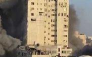 Γάζα: Η συγκλονιστική στιγμή που κτίριο 14 ορόφων καταρρέει έπειτα από βομβαρδισμό του Ισραήλ