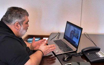 Τηλεδιάσκεψη του Δημάρχου Εορδαίας Παναγιώτη Πλακεντά με την Γενική Γραμματέα του Ιδρύματος Μποδοσάκη Αθηνά Δεσύπρη