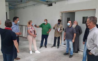 Ο Νίκος Λυσσαρίδης στη νέα πτέρυγα της Μονάδας φροντίδας ηλικιωμένων Κοζάνης