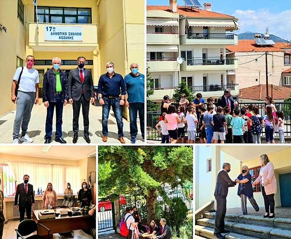 Επίσκεψη του Στάθη Κωνσταντινίδη σε σχολικές μονάδες του Νομού και ευχές για την έναρξη των Πανελλαδικών Εξετάσεων