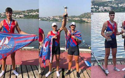Πέντε μετάλλια για τον Ναυτικό Όμιλο Κοζάνης στο Πανελλήνιο Πρωτάθλημα Κωπηλασίας στην Καστοριά