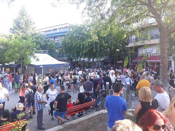 Συγκέντρωση κατά της υποχρεωτικότητας των εμβολίων στην Κεντρική πλατεία Πτολεμαΐδας