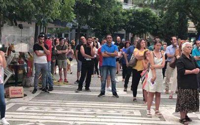 Συγκέντρωση κατά του υποχρεωτικού εμβολιασμού στην κεντρική πλατεία Πτολεμαΐδας